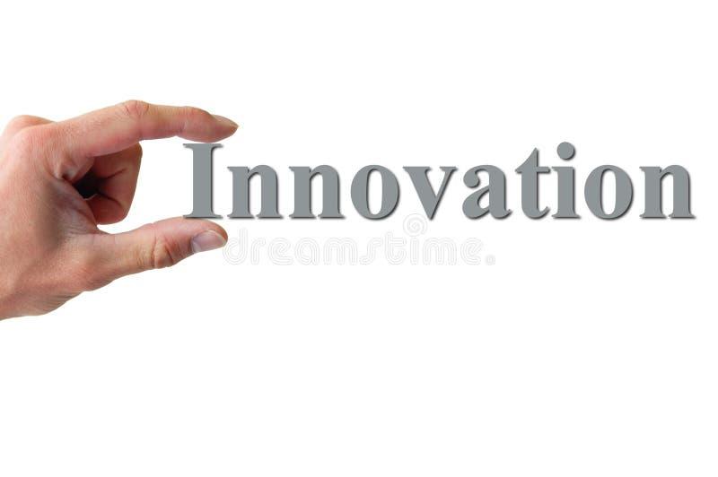 ręki mienia innowaci słowo obrazy royalty free
