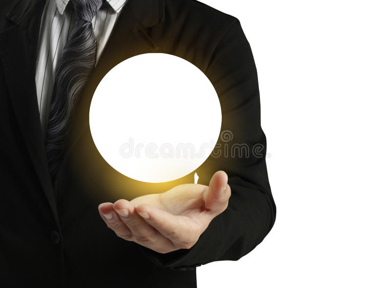 Ręki mienia kryształowa kula zdjęcia royalty free