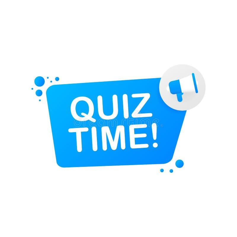 R?ki mienia megafon - quizu czas r?wnie? zwr?ci? corel ilustracji wektora ilustracji