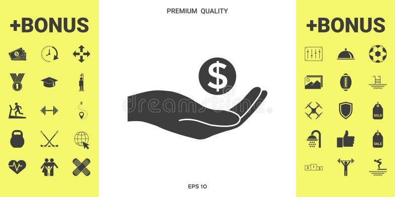 Ręki mienia pieniądze - dolarowy symbol ilustracji