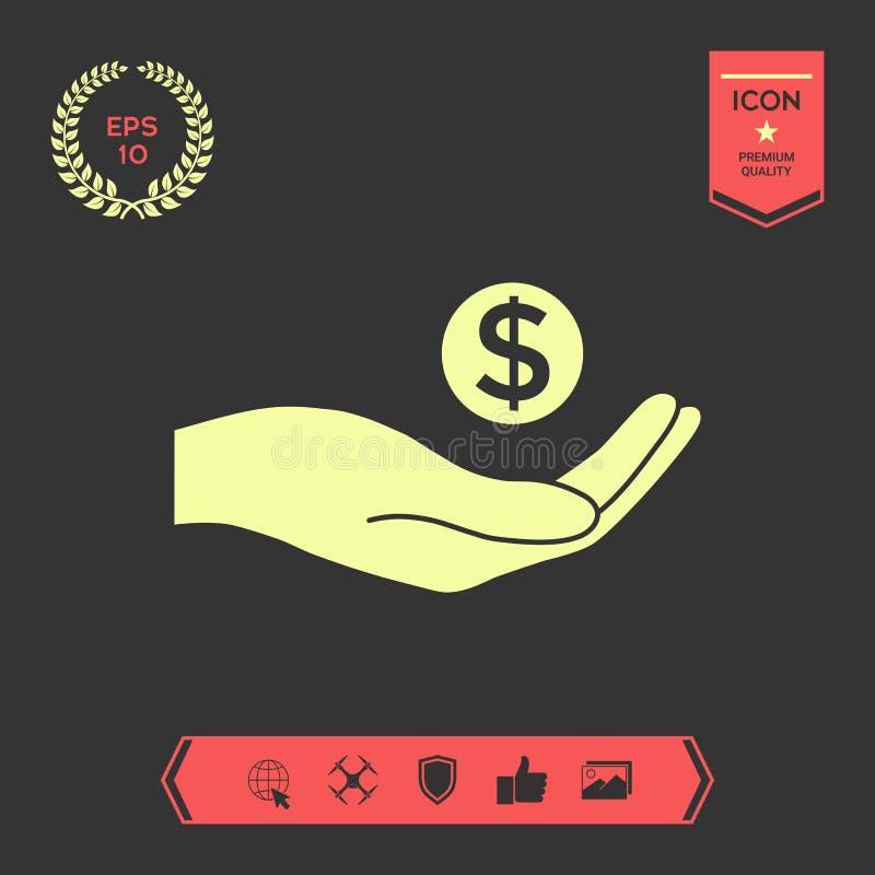 Ręki mienia pieniądze - dolarowy symbol Graficzni elementy dla twój projekta ilustracji