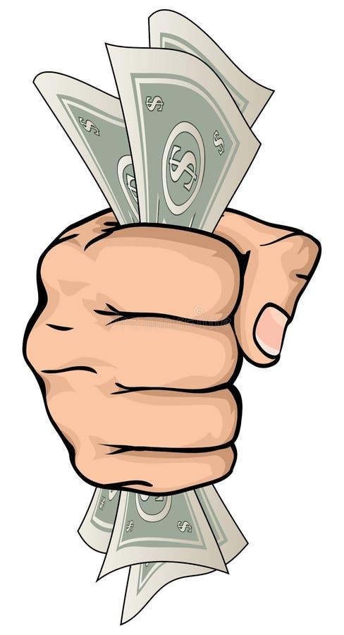 Ręki mienia pieniądze rysunek ilustracji