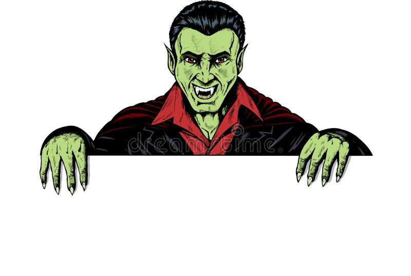 ręki mienia potwora znak royalty ilustracja