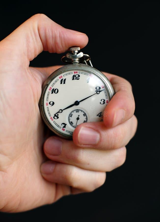 ręki mienia stopwatch zdjęcie royalty free