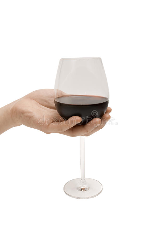 ręki mienia wino zdjęcia royalty free
