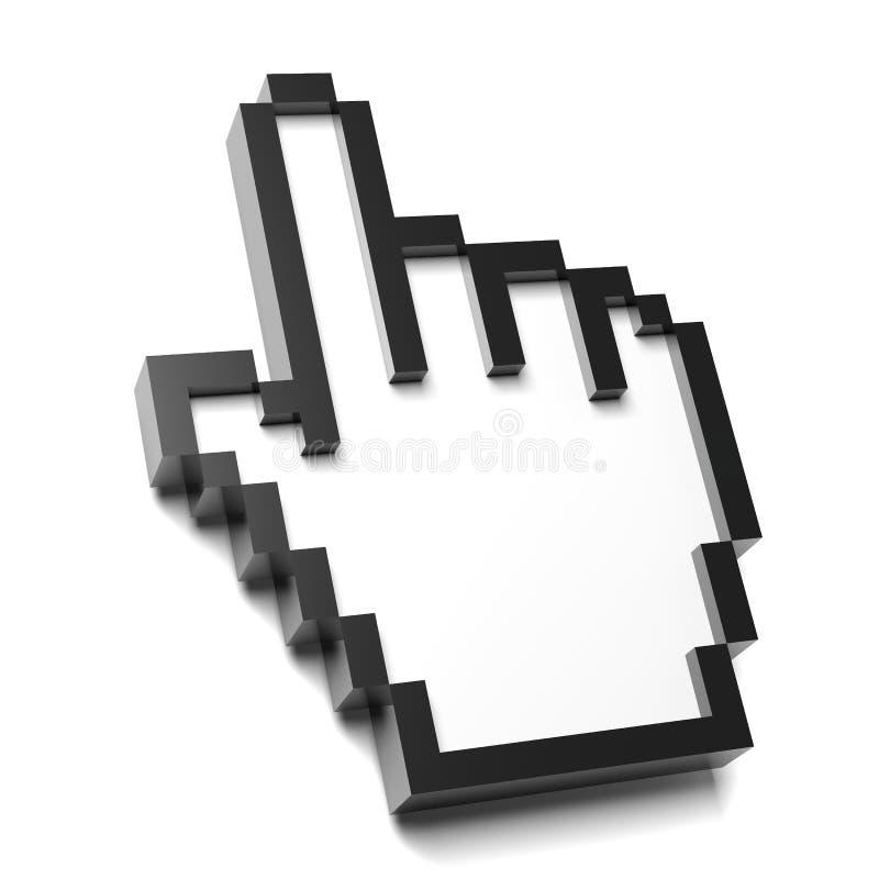 Ręki myszy pointer royalty ilustracja