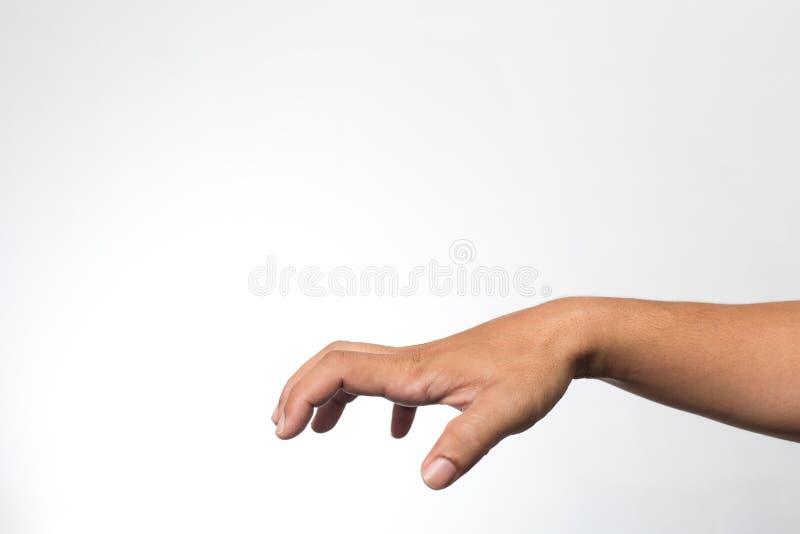 Ręki na biały ścianie fotografia stock