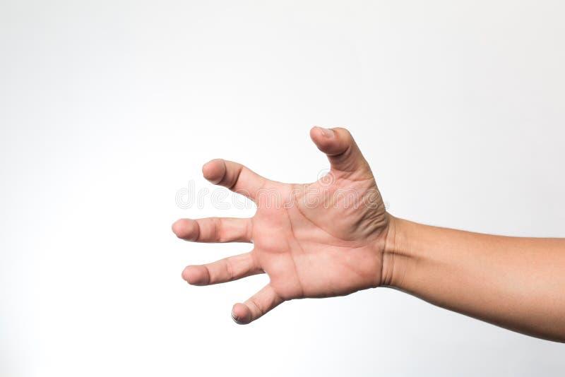 Ręki na biały ścianie obrazy stock