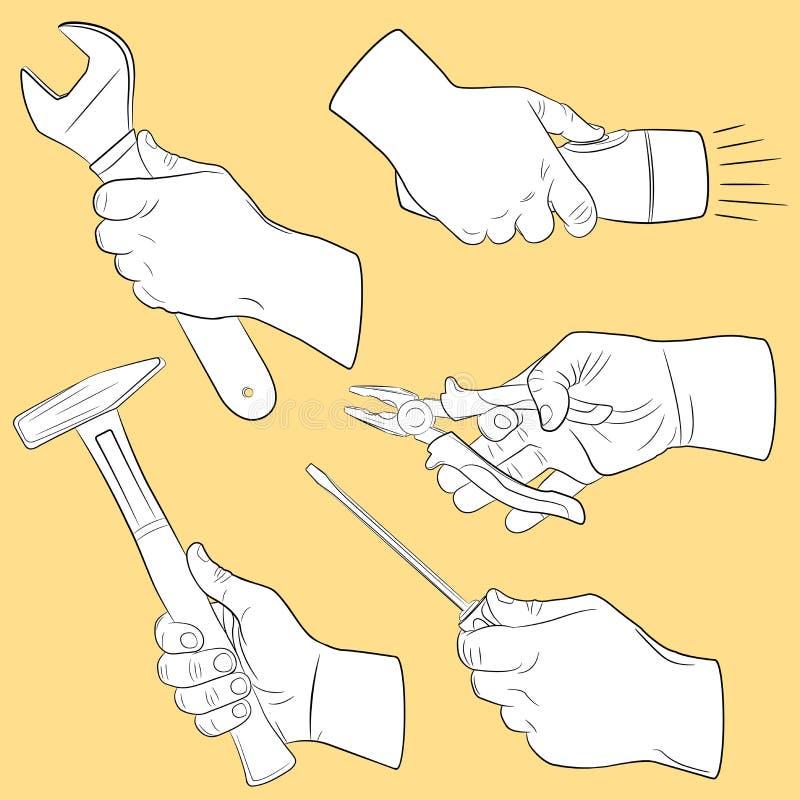 ręki narzędzi use ilustracji