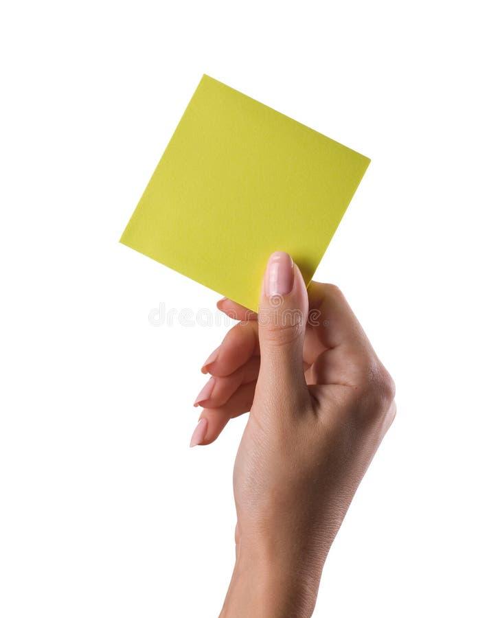 ręki notatka obraz stock