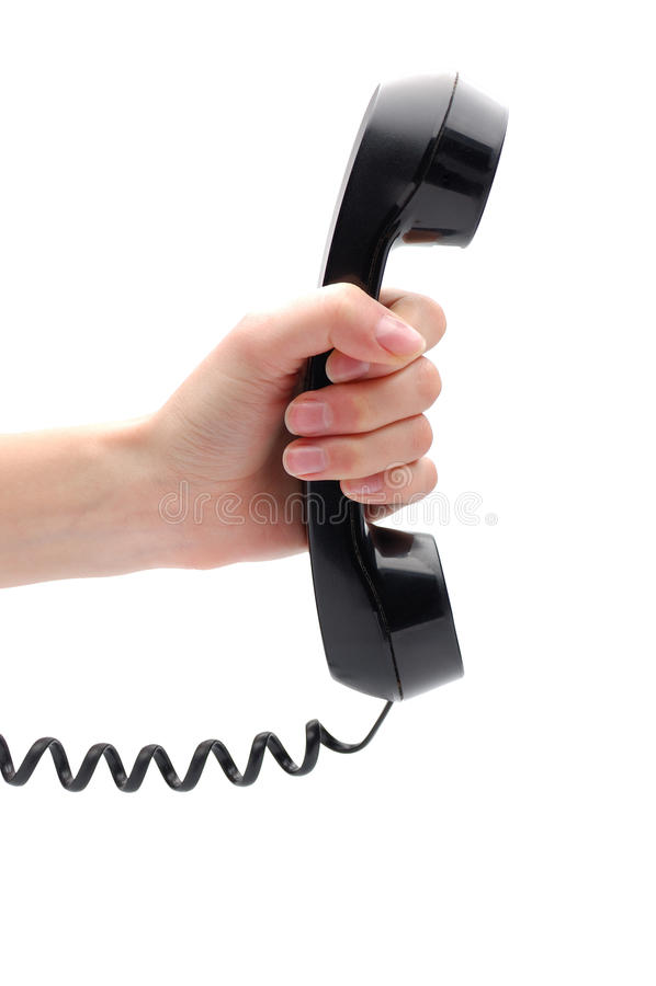 ręki odbiorcy telefon zdjęcia royalty free