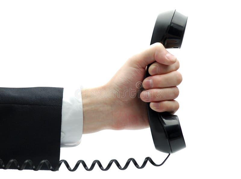 ręki odbiorcy telefon obrazy stock