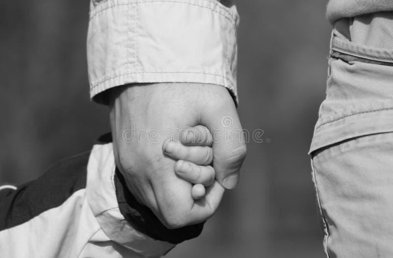 ręki ojca s syn zdjęcie royalty free