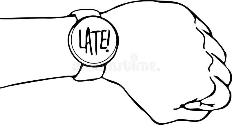 ręki opóźniony zegarka nadgarstek royalty ilustracja