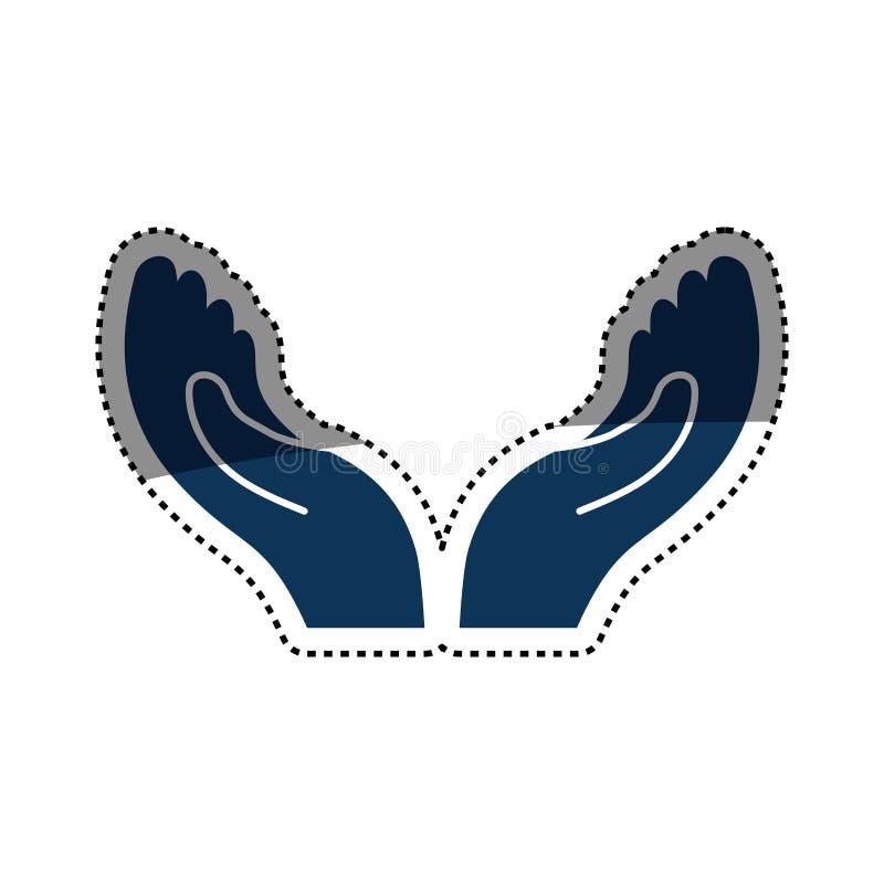 Ręki otwierają symbol ilustracja wektor