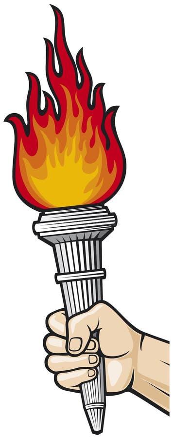 ręki płomienna pochodnia royalty ilustracja