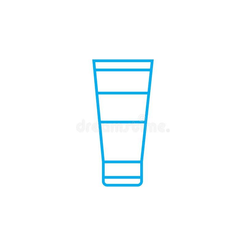 Ręki płukanki wektoru uderzenia cienka kreskowa ikona Ręki płukanki konturu ilustracja, liniowy znak, symbolu pojęcie ilustracji