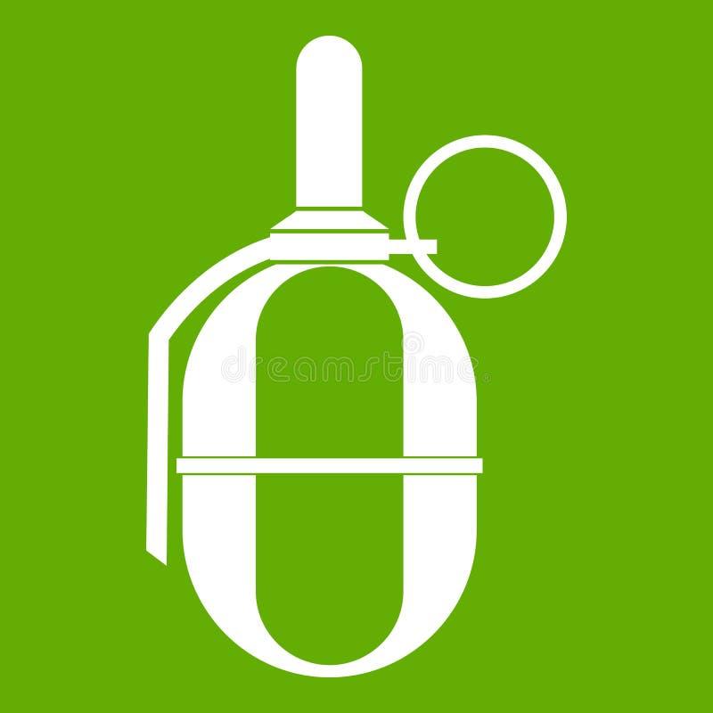 Ręki paintball granata ikony zieleń royalty ilustracja