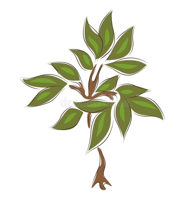 ręki patroszony drzewo ilustracji