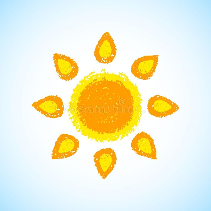 ręki patroszony słońce royalty ilustracja