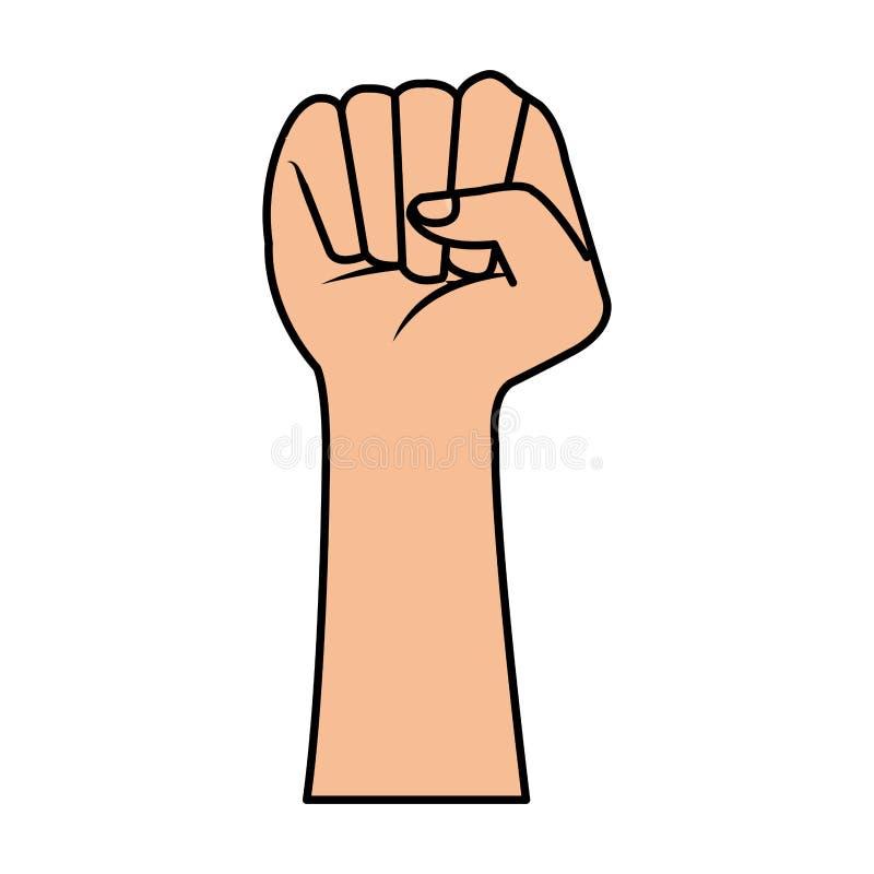 ręki pięści ludzka ikona ilustracja wektor