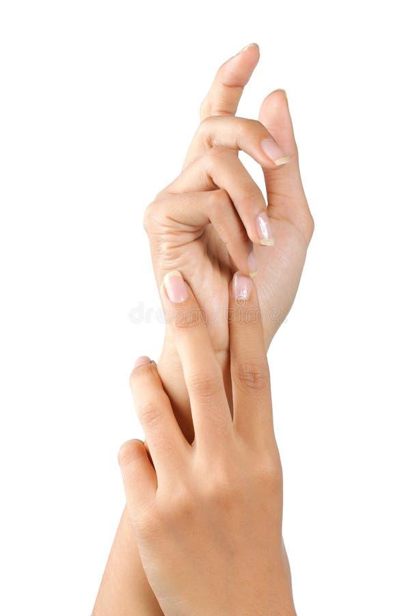 ręki piękna kobieta s zdjęcia royalty free