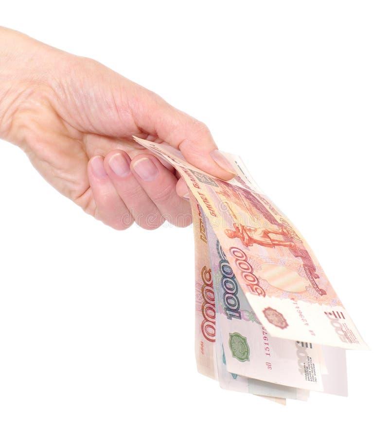 Download Ręki pieniądze biel zdjęcie stock. Obraz złożonej z palec - 13339638