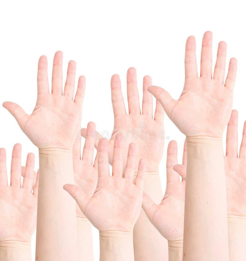 ręki podnosić zdjęcia royalty free
