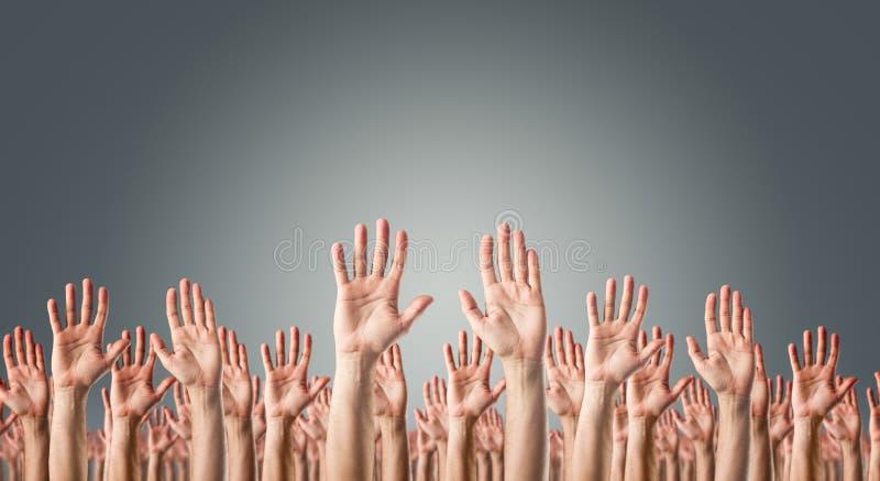 Ręki podnosić w powietrzu obrazy royalty free