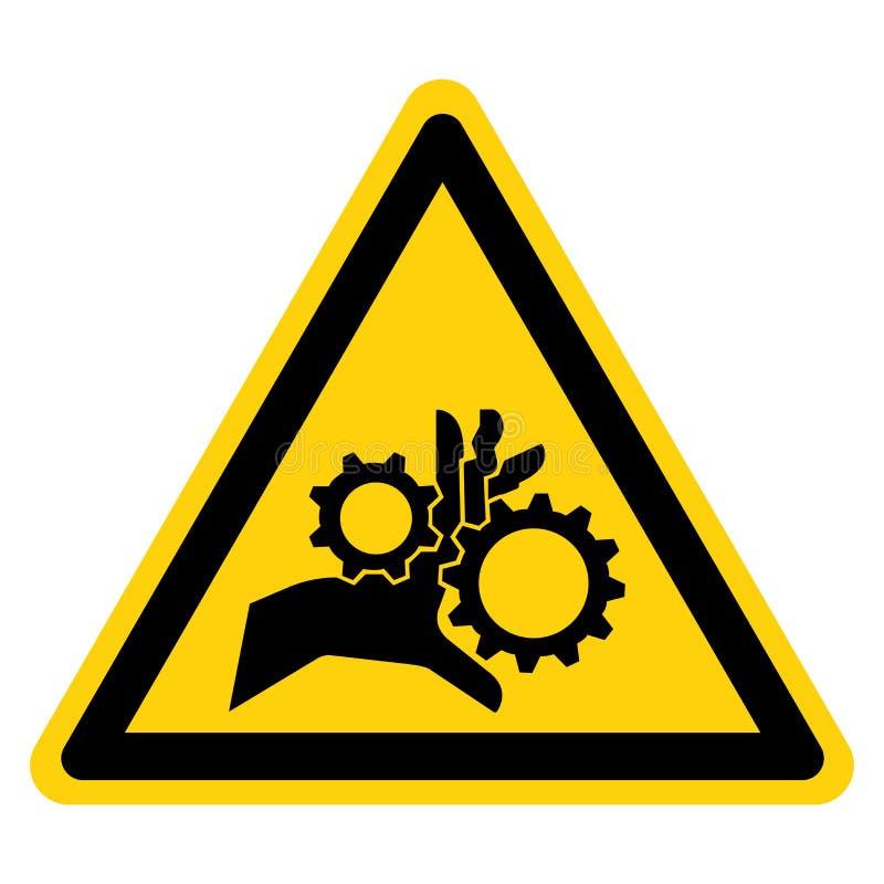 Ręki pogmatwanie Wiruje przekładnia symbolu znaka, Wektorowa ilustracja, Odizolowywa Na Białej tło etykietce EPS10 royalty ilustracja