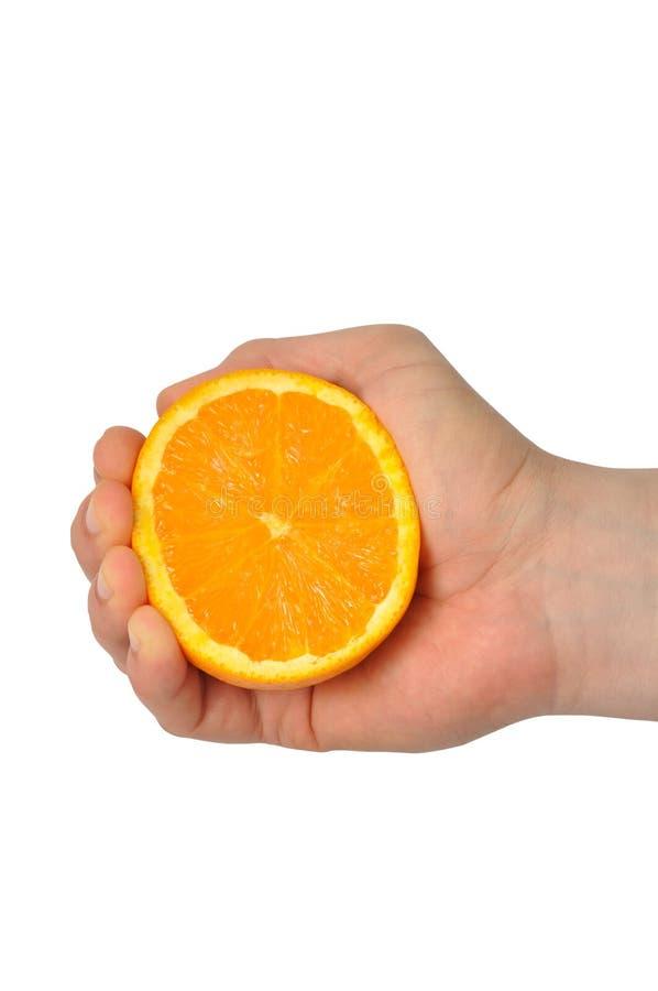 ręki pomarańcze obrazy stock