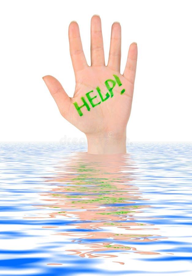 ręki pomoc woda obrazy stock