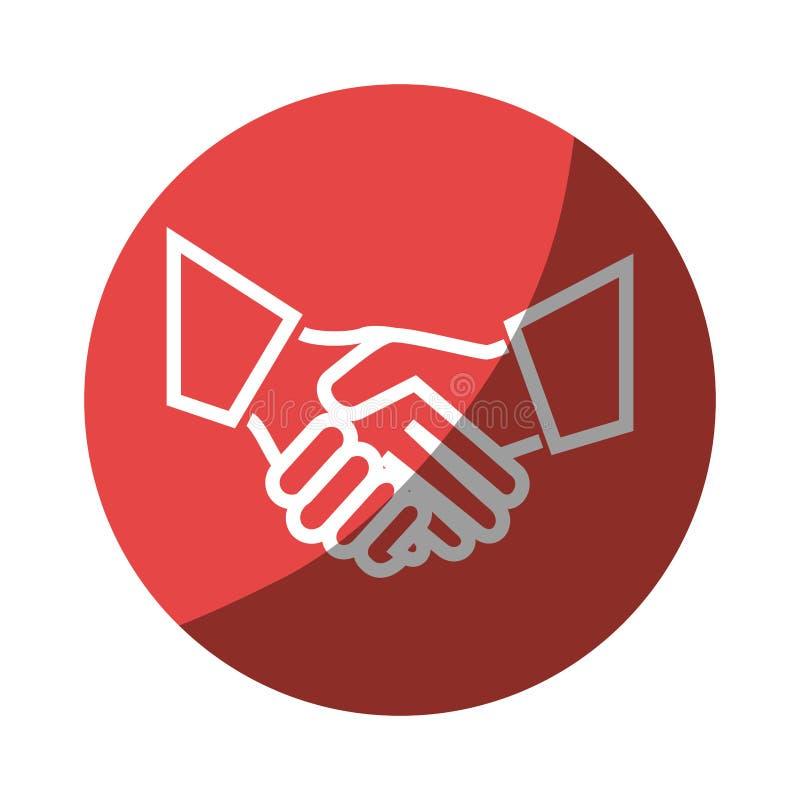 Ręki potrząśnięcia odosobniona ikona ilustracja wektor