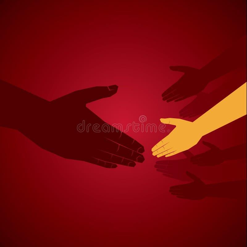 Ręki potrząśnięcie ilustracji