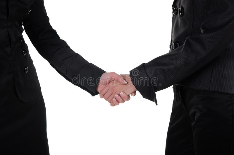 Ręki potrząśnięcie dwa kobiety zdjęcia stock
