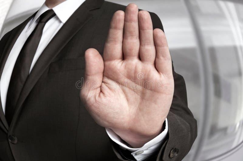 Ręki przerwa pokazywać biznesmenem fotografia stock