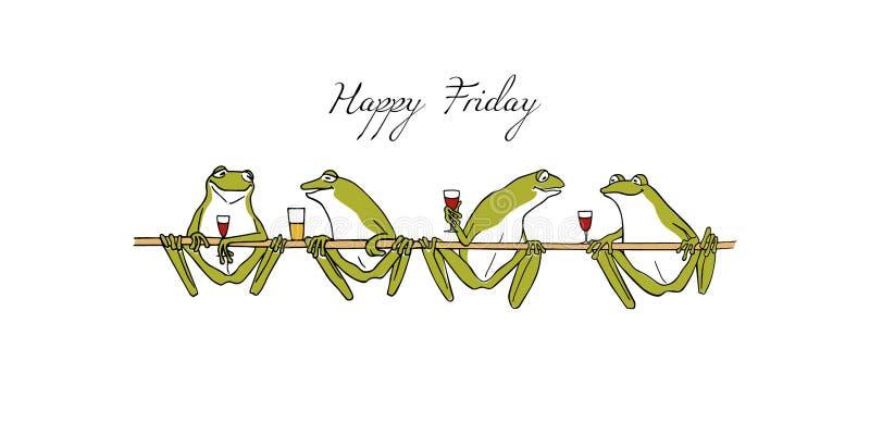 Ręki rysować żaby ilustracja wektor