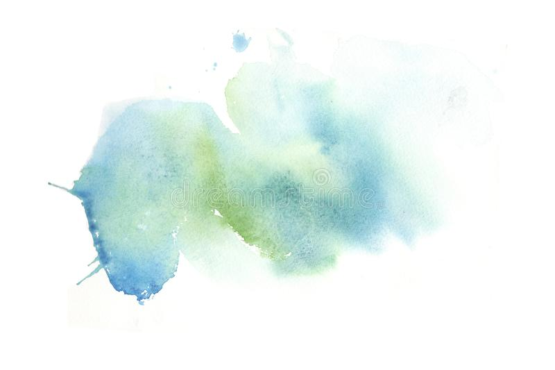 Ręki rysować kolorowe akwarela abstrakta plamy z plamami royalty ilustracja