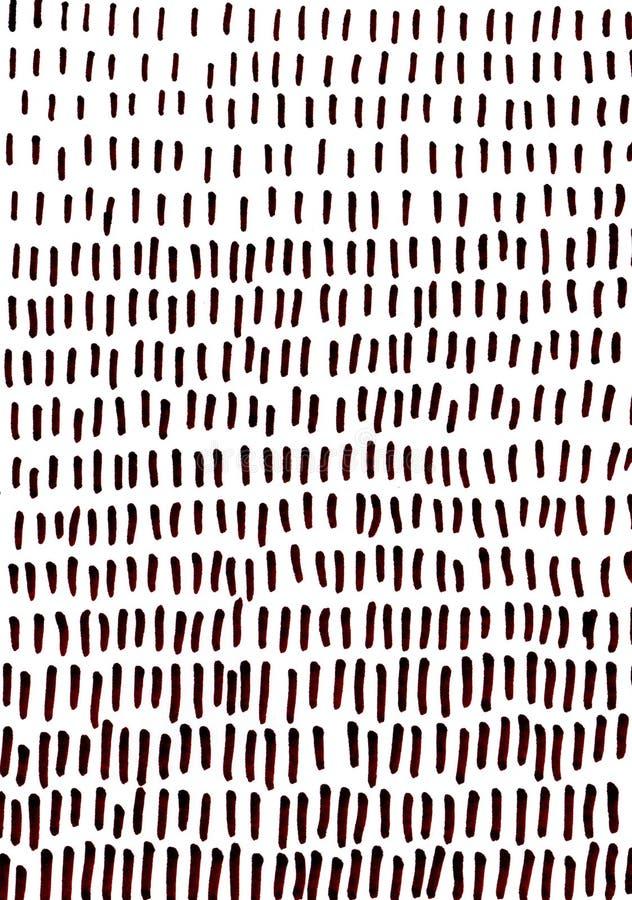 Ręki rysujący brązów uderzenia na białym tle obraz stock