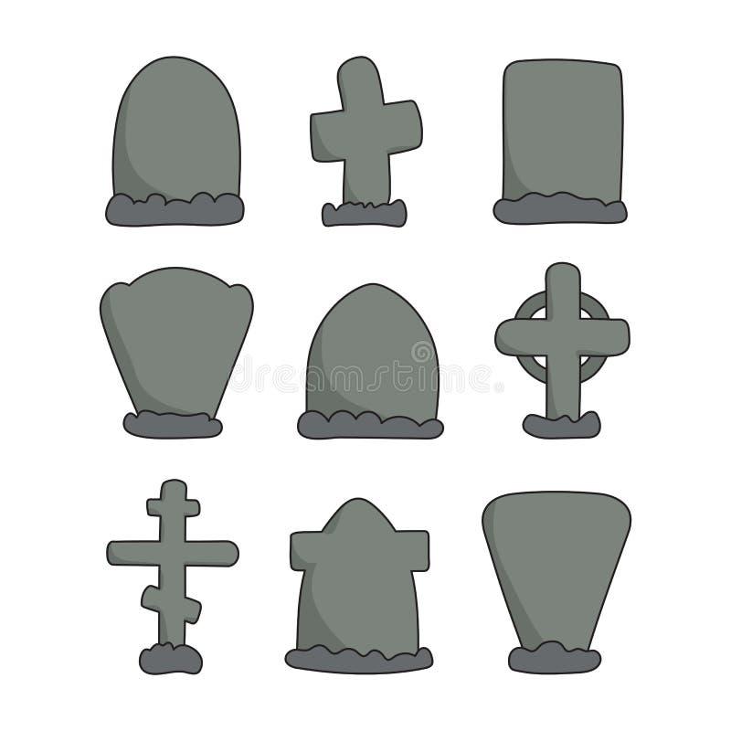 Ręki rysujący headstones royalty ilustracja