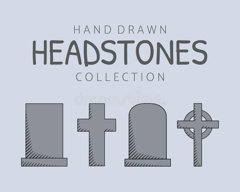 Ręki rysujący headstones zdjęcie royalty free