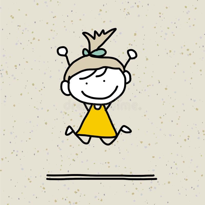 Ręki rysunkowej kreskówki szczęśliwi dzieciaki royalty ilustracja