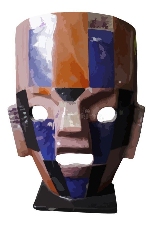 Ręki rzemiosła maska robić wielo- kolorów kamienie royalty ilustracja