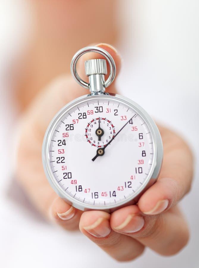 ręki s stopwatch kobieta zdjęcie stock