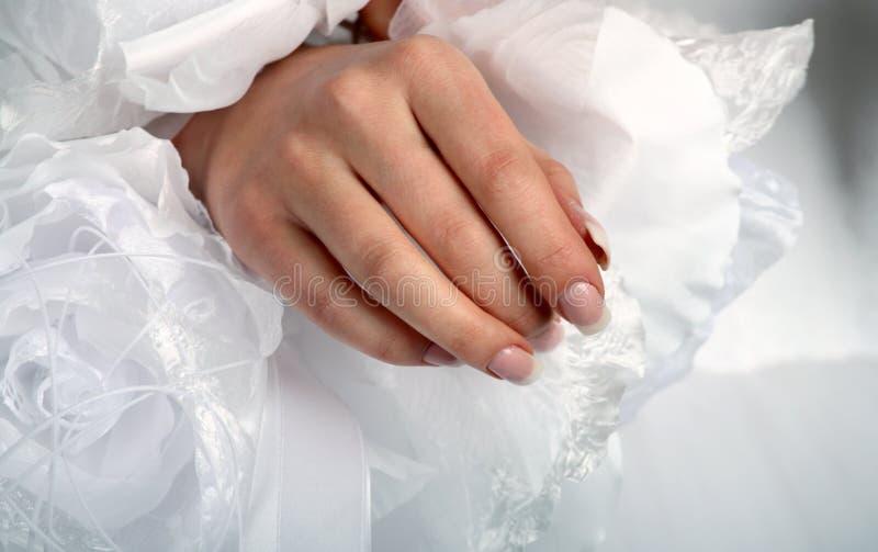 ręki smokingowa biała kobieta fotografia stock