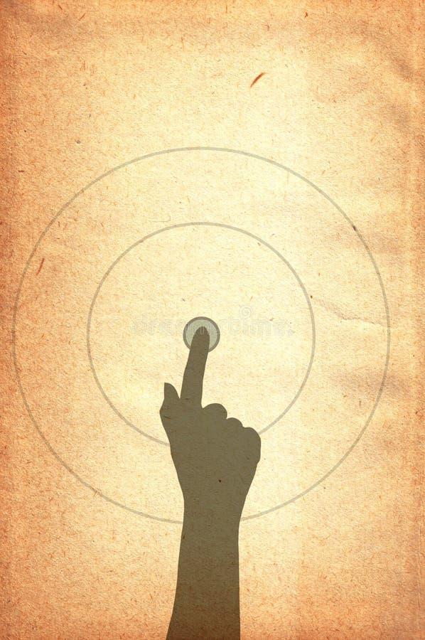 ręki stary papieru ekranu tekstury macanie ilustracja wektor