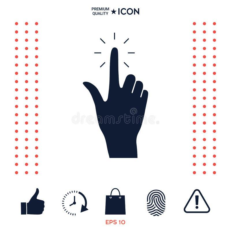 Ręki stuknięcie, ikona royalty ilustracja