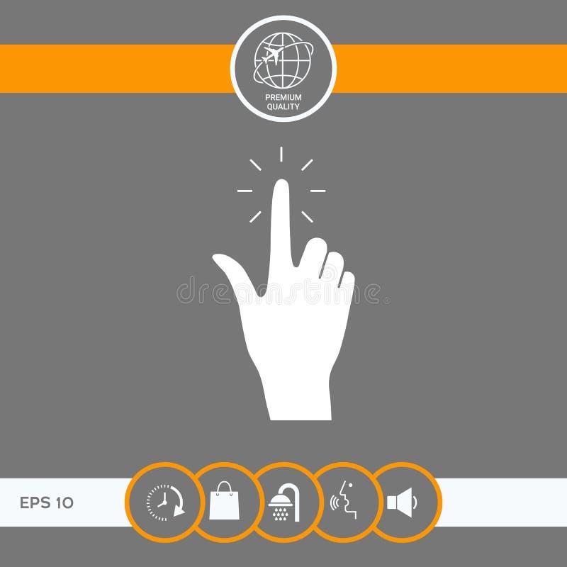 Ręki stuknięcie, ikona ilustracja wektor