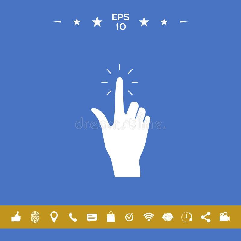 Ręki stuknięcie, ikona ilustracji