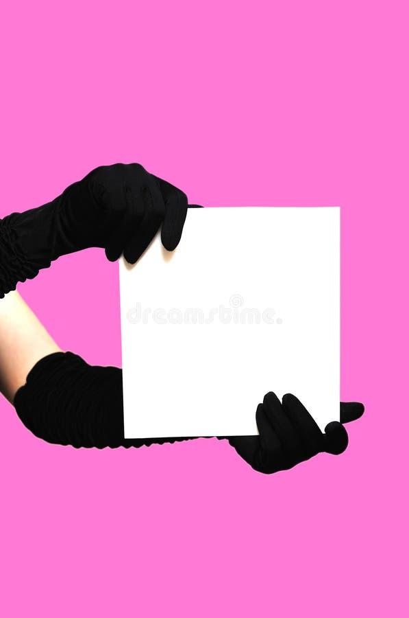 ręki tapetują biel fotografia stock